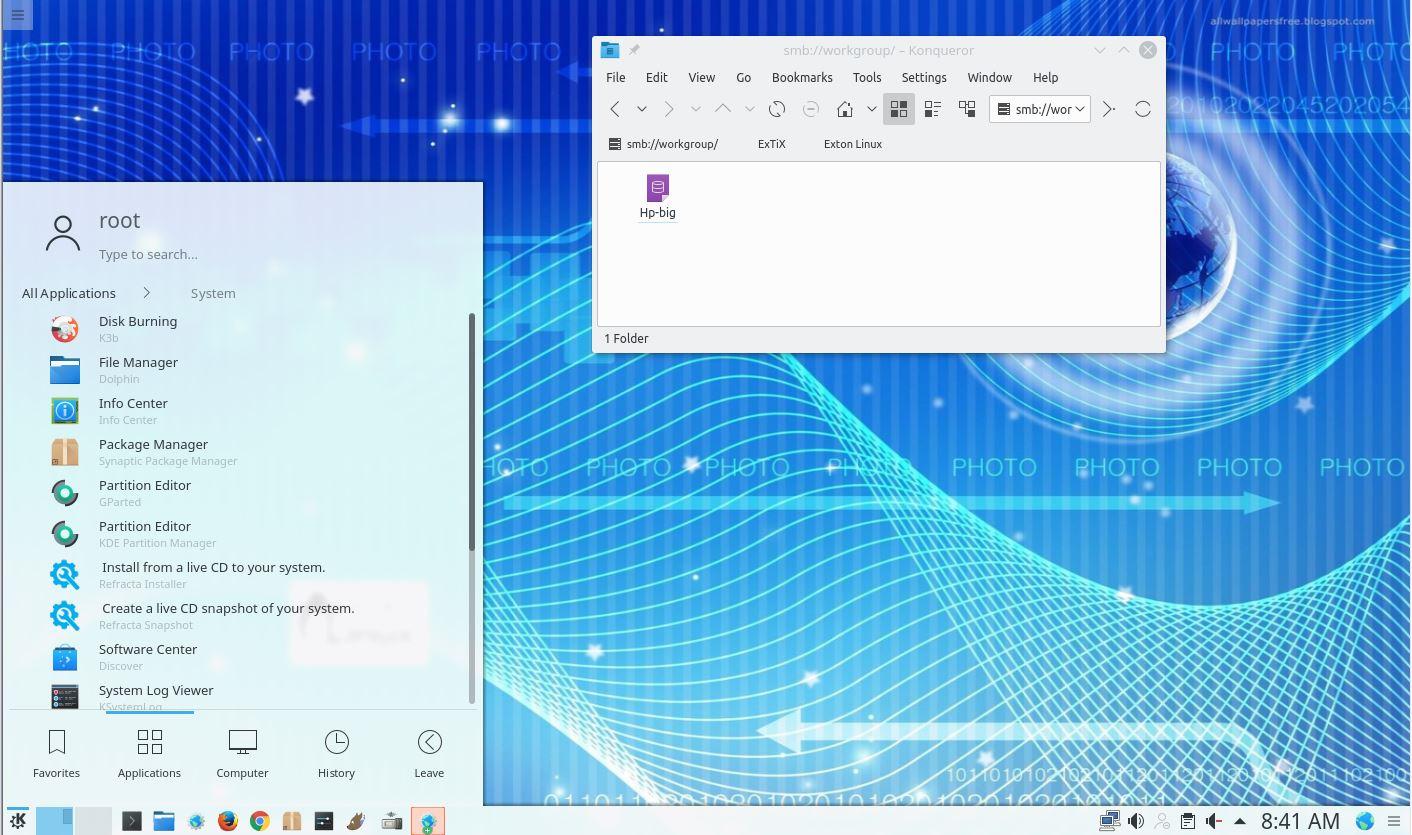 """ExTiX 19 5, Build 190508, with LXQt 0 14 1, Kodi 19 """"Matrix"""